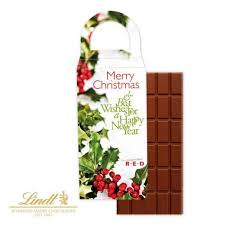 lindt chocolate bar in personalised box with handle promotional
