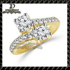 2 s ring 14k white gold 2 carat forever us two engagement diamond