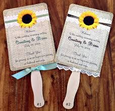 Sunflower Wedding Programs 50 Sunflower Inspired Wedding Ideas That Wedding Blog