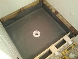 shower floor repair pan liner curb and finish coat tile