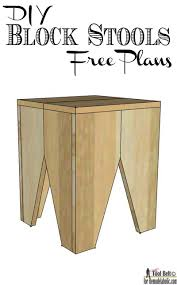 Woodworking Stool Plans For Free by Remodelaholic Diy Modern Natural Wood Block Stools