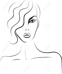 beautiful woman face fashion sketch royalty free cliparts vectors