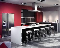 centre cuisine bar bas table avec plaques de cuisson au centre cuisine design