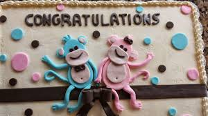 tickled pink cakes two little monkeys baby shower