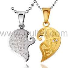 couples necklace connecting hearts names engraved couples necklace set for 2
