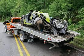 corvette crash driver crashes z06 corvette after hitting 125 mph power