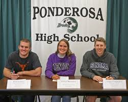 College Baseball Letter Of Intent by Ponderosa Athletes Sign Letters Of Intent