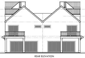 Water View House Plans Mediterranean Duplex House Plans Beach Duplex House Plans