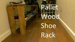 How To Use A Bakers Rack Simple Shoe Rack From Reclaimed Pallet Wood Youtube