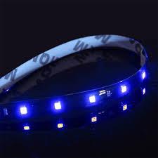 2x 1ft blue led light strips flexible bright adhesive tape 12v car