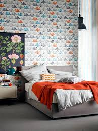 bedroom wall patterns a colorful mix of patterns for bedroom walls interior design ideas