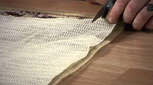 Underpad For Area Rug How To Properly Trim An Underlay For An Area Rug Carpet Rugs