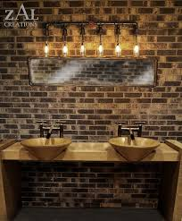 industrial bathroom pipe lighting interiordesignew com