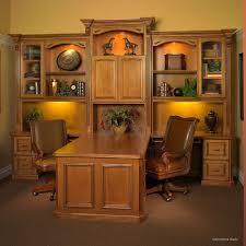Wonderful Custom Built Home Office Furniture A Twotoned Look To - Custom home office furniture