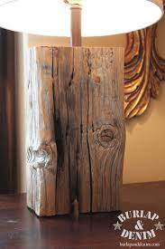 salvaged wood salvage wood block or beam lburlap denim