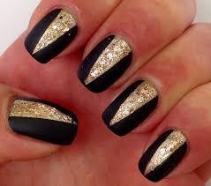 nail art designs blog black and gold nail art