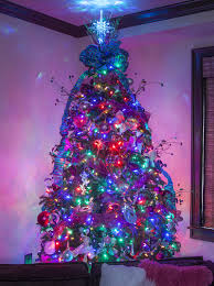 christmas trees with colored lights decorating ideas christmas tree color decorating ideas mariannemitchell me