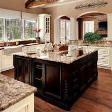 tuscan kitchen style using granite countertops and induction