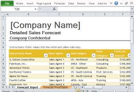 Excel Sales Templates Forecast Template For Excel
