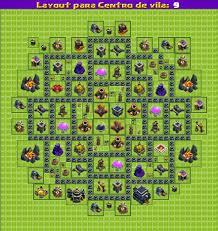 layout vila nivel 9 clash of clans clash of clans jogue bem layouts centro de vila nv 9