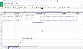 Google Spreadsheet Widget Slider Gadget Documentation Google Apps Script Examples