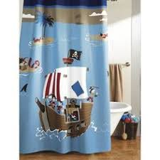 Boy Bathroom Shower Curtains Pirate And Mermaid Shower Curtain Pirate Shower Curtain From Www