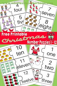 christmas number printable puzzles 1 u2013 12 u2013 miniature masterminds