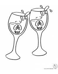 disegni bicchieri sta disegno di brindisi da colorare