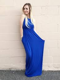 Formal Dresses With Pockets Royal Blue Maxi Dress With Pockets U2013 Sevenandcoboutique
