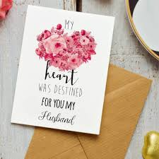 for my husband luxury a5 anniversary or birthday card by zoe