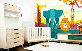 fresque murale chambre chambre bebe fresque murale animaux jungle deco chambre bebe fresque