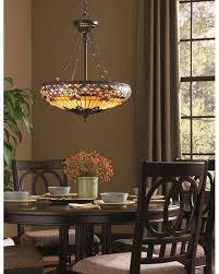 tiffany style dining room lights elstead lighting quoizel tiffany belle fleur 4 light pendant
