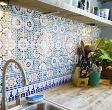 wandfliesen küche marokkanische fliesen faszinierende fotos archzine net