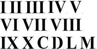 roamn numeral three inch numerals wall stencil sku 2923 by