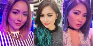 filipina artist with copper brown hair color 10 stars with best hair color transformations pep ph