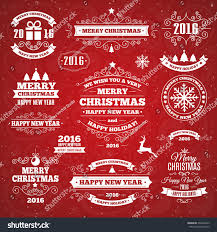 vintage merry christmas happy new year stock vector 339326945