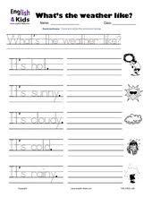esl kids worksheet weather worksheets weather pinterest