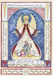 alleluia angel nativity box of 14 religious christmas cards by lpg