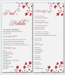 free templates for wedding programs powerpoint wedding program templates skywrite me