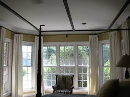curtains ideas hinged curtain rod for bay window make and pictures