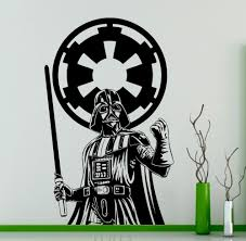 online get cheap darth vader wall decal aliexpress com alibaba darth vader star wars wall vinyl decal skywalker black poster sticker home interior living room bedroom decor removable mural