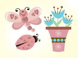 butterfly flowers cartoons