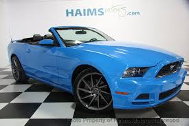 2014 blue mustang convertible 2014 used ford mustang 2dr convertible v6 at haims motors serving