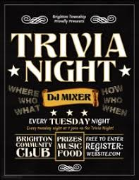 customizable design templates for trivia night flyer postermywall