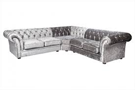 Black Fabric Chesterfield Sofa by Nelson Chesterfield Corner 2c2 Crushed Velvet Sofa Silver