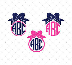 bow monogram svg cut files for cricut and silhouette bow monogram files svg