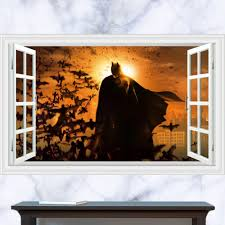 compare prices on batman window online shopping buy low price large 3d batman sticker for kids room removable fake window cartoon nursery wall decal adhesive wall