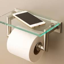 Tissue Holder Dyad Double Post Toilet Tissue Holder With Cover Shelves From