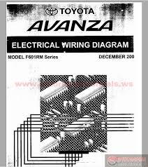 toyota avanza f601rm series electrical wiring diagram auto