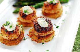 where to buy potato pancakes cajun scallops with mini potato pancakes dinners